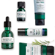 THE BODY SHOP COMBATA AS IMPERFEIÇÕES COM A LINHA TEA TREE