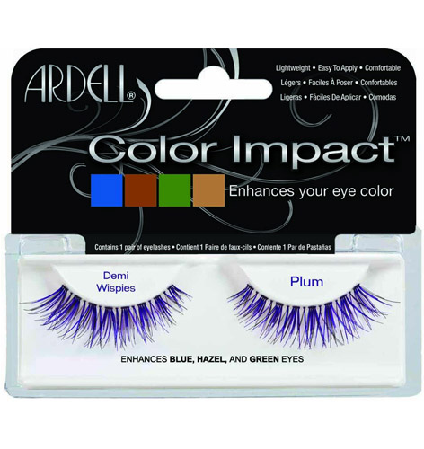 Pestanas Color Impact Demi Wispies Plum Array