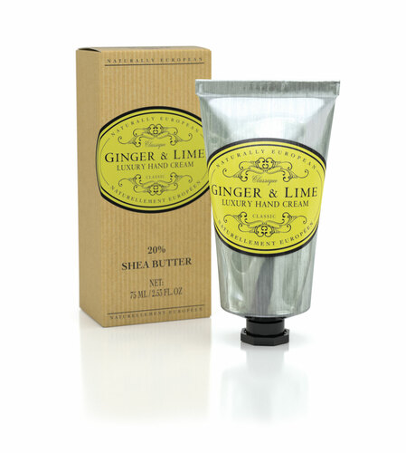 CREME DE MÃOS Naturally European LUXURY HAND CREAM GINGER E LIME
