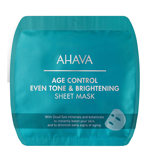 Time To Smooth Ahava Age Control Even Tone & Brightening Sheet Mask 50 ml