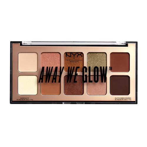 Away We Glow NYX Professional Makeup Shadow Palette Hooked On Glow hooked on glow
