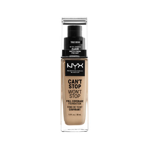 Can'T Stop Won'T Stop NYX Professional Makeup Full Coverage Foundation  08 true beige