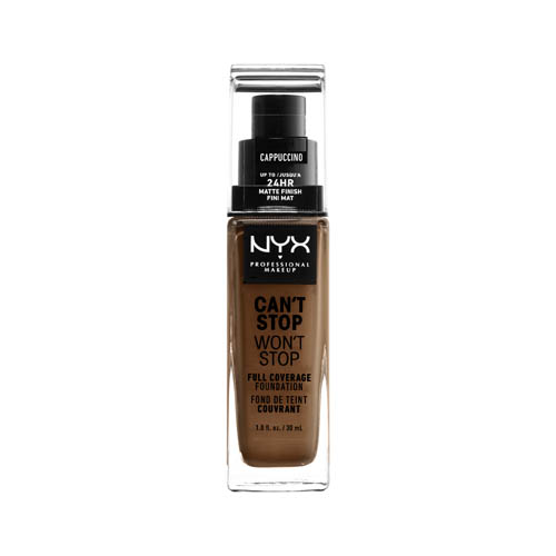 Can'T Stop Won'T Stop NYX Professional Makeup Full Coverage Foundation  17 cappuccino