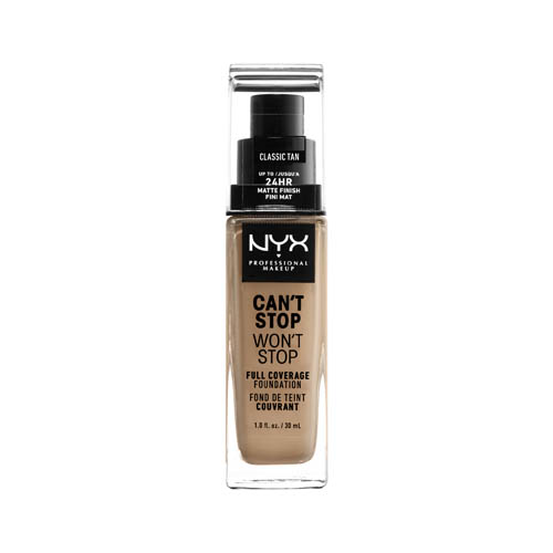 Can'T Stop Won'T Stop NYX Professional Makeup Full Coverage Foundation  12 classic tan