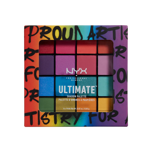Ultimate Shadow Palette Brights Pride Edition NYX Professional Makeup Sombras Brights