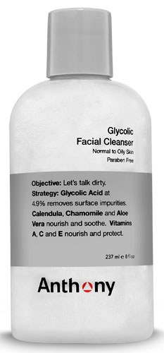 Glycolic Facial Cleanser Anthony Logistics for Men