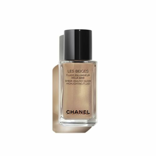 LES BEIGES CRÈME ENSOLEILLÉE CHANEL ILUMINADOR DE TEZ EFEITO IRISADO. AR SAUDÁVEL LUMINOSO ROSTO E CORPO Les Beiges Sheer Highlighting-Sunkissed