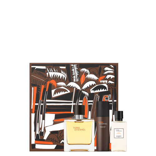 TdH Pure Perfume Father039s Day Set  EDP 75ml  Shaving Foam 50ml  After Shve Lotion 40ml Terre d39Hermes
