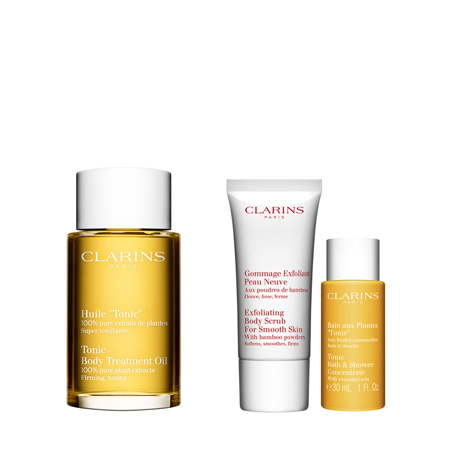 Clarins  Spa @ Home - Huile Tonic 100ml+Gommage E