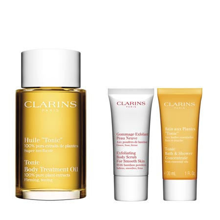 Clarins Spa @ Home* Huile Tonic 100ml +Gommage 100 ml