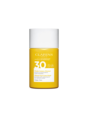 Uvb Uva 30  Fluide Solaire Mineral Vis Clarins