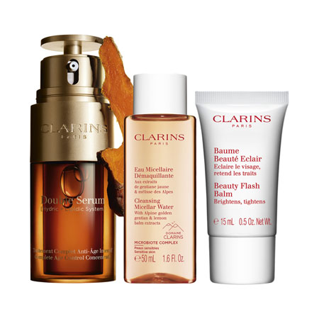 Clarins Double Serum  30ml + Eau Micellaire Déma 30 ml