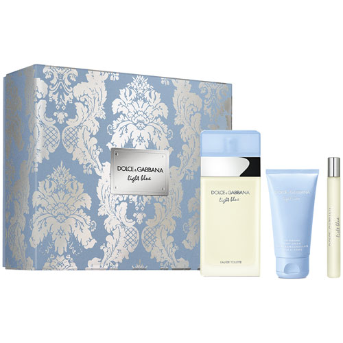 Light Blue Dolce&Gabbana Light Blue X'Mas Set - EDT 100ml + Body Cream 50ml + Travel Spray 10ml 100 ml