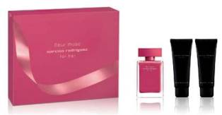 For Her Fleur Musc X039Mas Set  EDP 50ml  Body Lotion 75ml  Shower Gel 75ml For Her