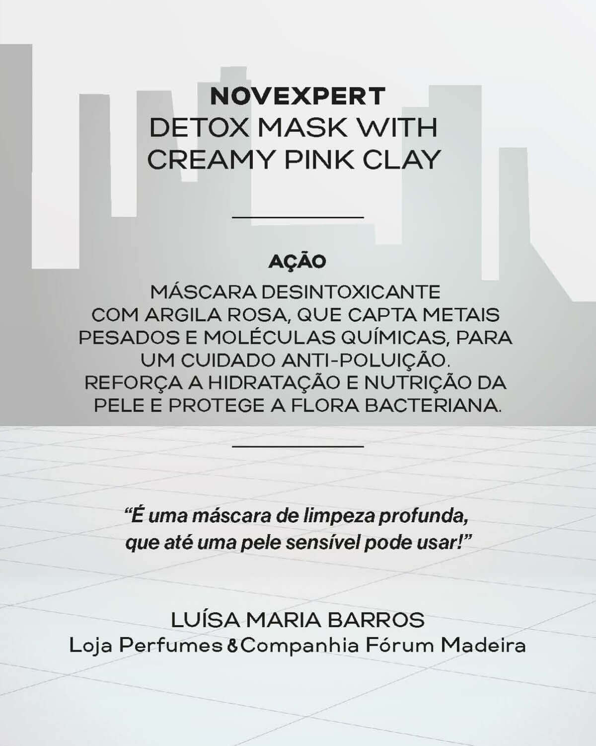 Magnesium Novexpert Detox Mask With Creamy Pink Clay