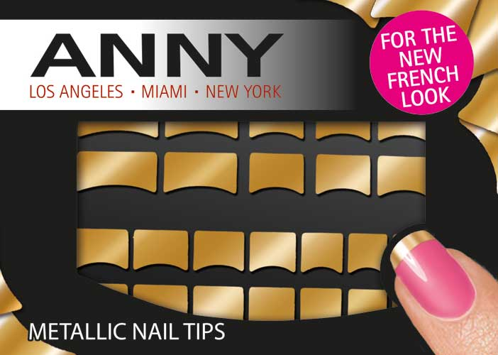 Metallic nail tips silver Anny Anny