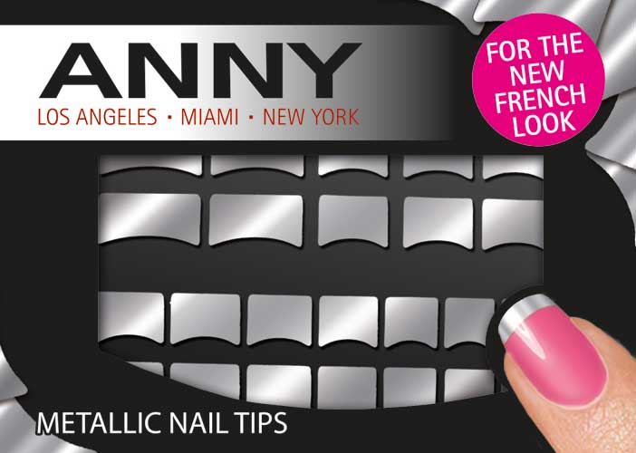 Anny  Metallic nail tips silver