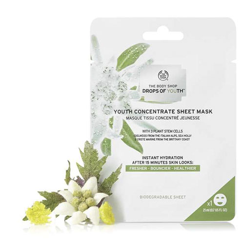 Drops Of Youth The Body Shop Youth Concentrate Sheet Mask 21 ml