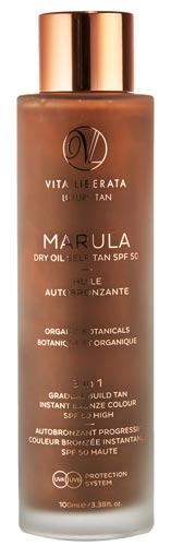 Marula Self Tan Dry Oil SPF50  Valmont