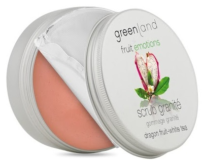 Greenland Fruit Emotions scrub granite 200 ml, dragon fruit-white tea