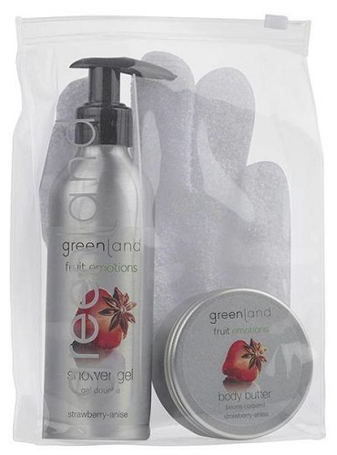 Fruit Emotions Greenland Scrub Glove Fruit Emotions Set: Morango - Anis