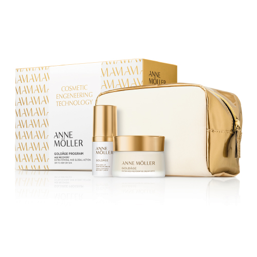 Coffret AM Goldâge Cream SPF 15 (+60 Pele Normal) Confort Exfoliance AM Coffret Goldâge Restorative Cream Extra Rich SPF 15 50ml + Eye and Lip Countour Cream 15ml + Gold Beauty Case (+60 Pele Seca)