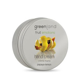 hand cream, papaya-lemon Fruit Emotions Greenland