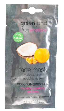 Greenland Fruit Emotions Face Mask Coco-Tangerina