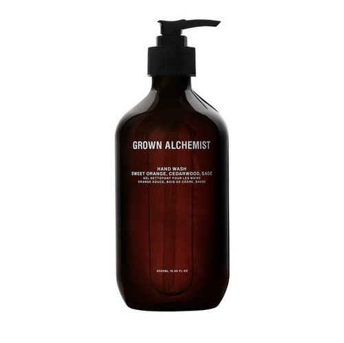 Grown Alchemist Hand Wash: Sweet Orange, Cedarwood, Sage 500 ml