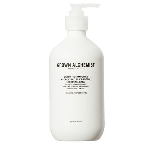 Grown Alchemist Detox - Shampoo 0.1: Hydrolyzed Silk Protein, Lycopene, Sage 500 ml