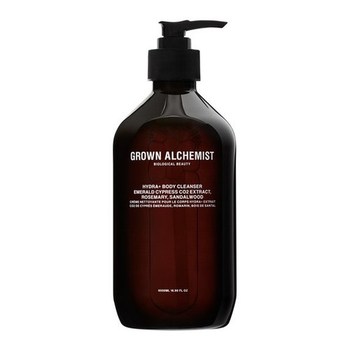Grown Alchemist Hydra+ Body Cleanser: Emerald Cypress Co2 Extract, Rosemary, Sandalwood 500 ml